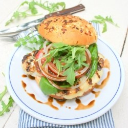 Grilled Cauliflower Steak and Basil Sandwich Recipe