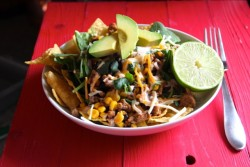 Ground Turkey Salad with Corn Black Beans Recipe
