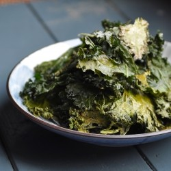 Kale Chips with Butternut Squash Oil Sea Salt