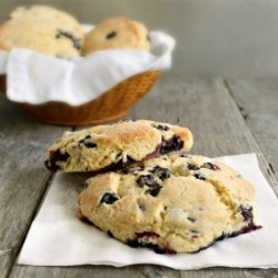 Lemon and Blueberry Cornmeal Scones Recipe