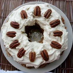 Pecan Torte with Coffee Cream