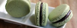 Pistachio Macarons with Cocoa Almond Butter Recipe