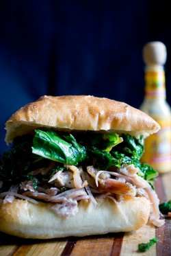 Pulled Pork and Greens Sandwich with Bacon Recipe
