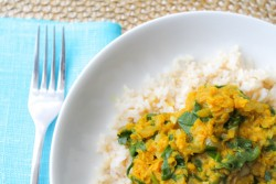 Red Lentil Spinach Dal Recipe