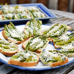 Roasted Avocado Asparagus Tartine