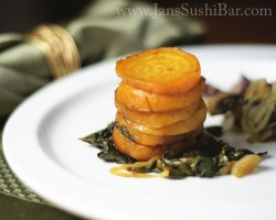 Roasted Golden Beets and Greens