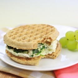 Spinach and Egg White Waffle Sandwich Recipe