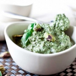 Spinach Basil Pistachio Pesto Recipe