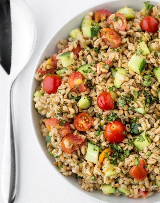 Summer Farro Salad with Tomatoes Recipe