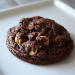 Triple Chocolate Cookies with Peanut Butter Chips