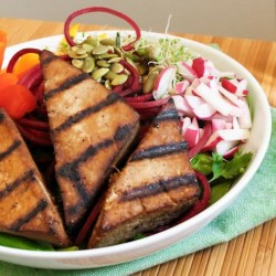 Veggie Bowl with Grilled Tofu Steaks Recipe