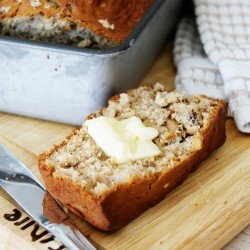 Walnut Banana Loaf Cake Recipe