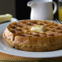 Whole Grain Belgian Waffles with Coconut Sugar