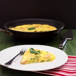 Bacon Swiss and Spinach Frittata Recipe