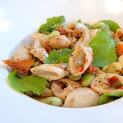 Calamari Salad with Broad Beans