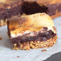 Cheesecake Brownie Flapjacks