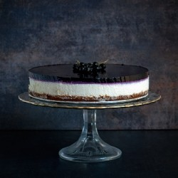 Cheesecake with Blackcurrant Jelly No Bake Recipe