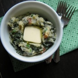 Cheesy Kale Bacon Colcannon