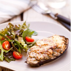 Chicken Fennel Stuffed Aubergine Recipe