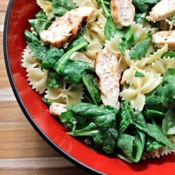 Chicken Spinach Bow Tie Pasta Recipe