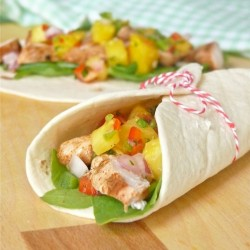 Chili Marinated Chicken Tacos with Pineapple Salsa Recipe