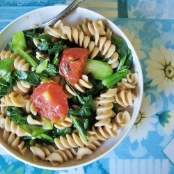 Chinese Broccoli Fusilli Pasta Recipe