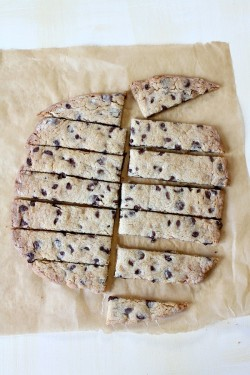 Chocolate Chip- Toffee Infused Cookie Strips Recipe