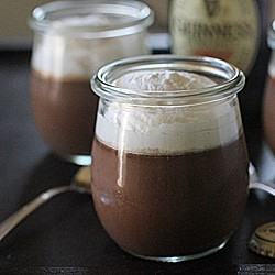 Chocolate Guinness Pudding with Baileys Whipped Cream
