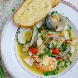 Cod Clams Lobster in White Sauce Recipe