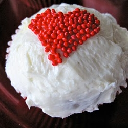 Devils Food Cupcales with Swiss Meringue Buttercream and Marzipan