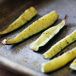 Easy Oven Roasted Zucchini Spear Recipe