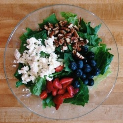 Feta Berry Salad with Lemon Vinaigrette Recipe