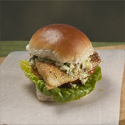 Fish Sandwich with Sauce Gribiche Recipe