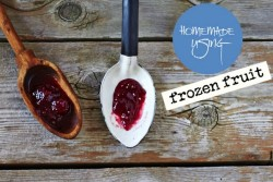 Frozen Berries Jam Recipe