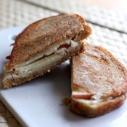 Gala Apple and Vermont Sharp Cheddar Grilled Cheese