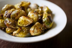 Garlic Balsamic Roasted Brussels Sprouts