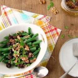 Green Beans with Toasted Walnuts and Dried Cherry Vinaigrette Recipe