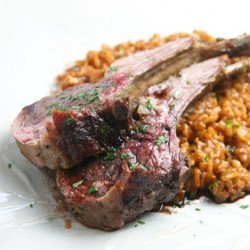 Herb Crusted Rack of Lamb and Port Reduction Sauce