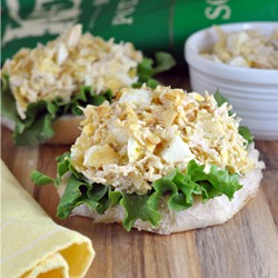Open-Faced Tuna and Egg Salad with Kettle Chips