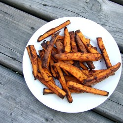 Oven Baked Chili Lime Yam Fries