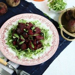 Oven Roasted Balsamic Beetroot with Tapenade and Fenugreek Leaves Recipe