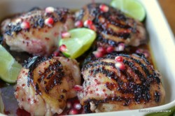 Pomegranate and Lime Chicken Thighs Recipe