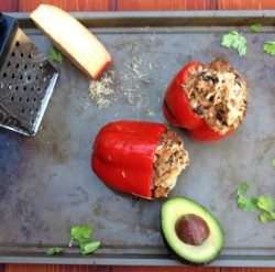 Quinoa Chicken Stuffed Peppers Recipe