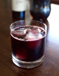 Red Wine and Soda Cocktail