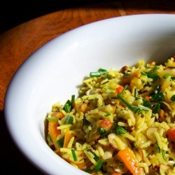 Rice Salad with Carrots and Nuts