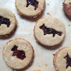 Sandwich Almond Cookies with Blueberry Jam Recipe