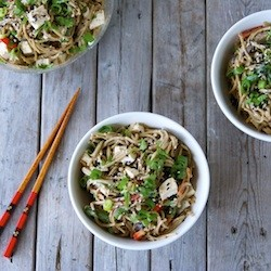 Sesame Soba Noodles Salad with Tofu Recipe
