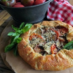 Sliced Tomatoes Eggplant Galette Recipe
