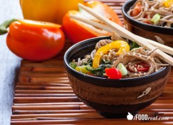 Soba Noodles Stir Fry with Chicken