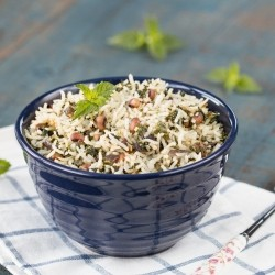Spinach Garlic Rice Recipe